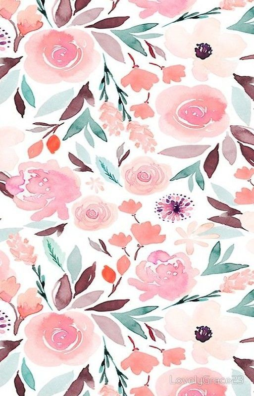 Pin By Ameneh On Patterns In 2020 Floral Wallpaper Iphone Floral Wallpaper Painting Wallpaper