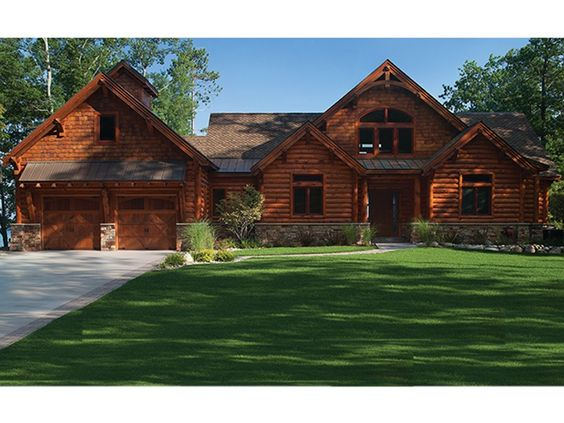 eplans log cabin house plan 5140 square feet and 5 bedrooms from eplans house