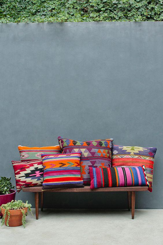 Barrington Blue - for me, for you --- bright colorful throw pillows, heavy pillows - boho interior