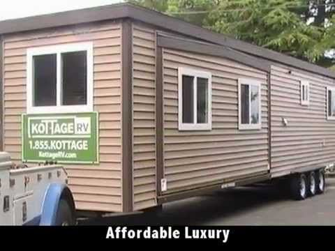 Shipping Container Homes for Sale that is made from Canada. This is a kind of affordable green housing shelter motorhome using the Shipping Container Mobile Home Park Model RV Trailer structure in Canada. Kottage RVs park model rv trailers are made with a solid steel structure that offers incredible strength -- especially when compared to a typical park model's wood and aluminum construction.