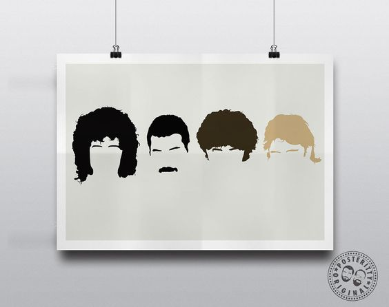 QUEEN HOT SPACE HEADS ART ORIGINAL OFFICIAL MUSIC BAND PRINT PREMIUM POSTER