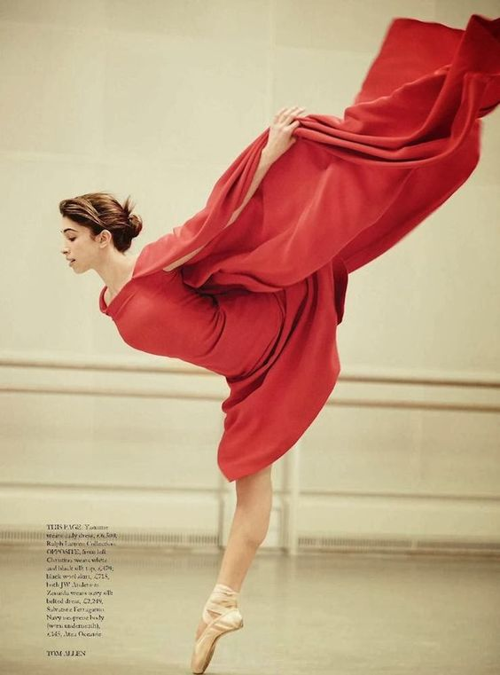"Soloist Yasmine Naghdi: ""Poetry in Motions"": Dancers of the Royal Ballet (UK) by Tom Allen for Harper's Bazaar UK April 2014"