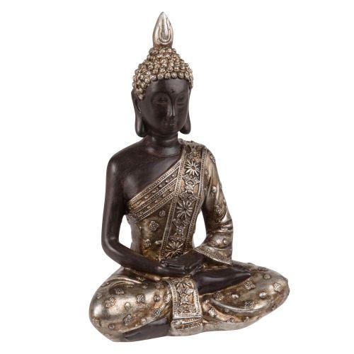 Statuette Bouddha Noire Et Doree H20 Maisons Du Monde
