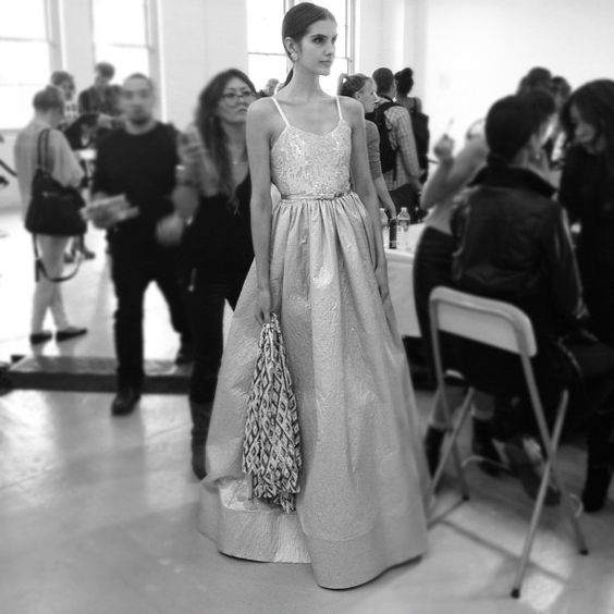 Absolutely dreamy gown at Alice + Olivia. #nyfw