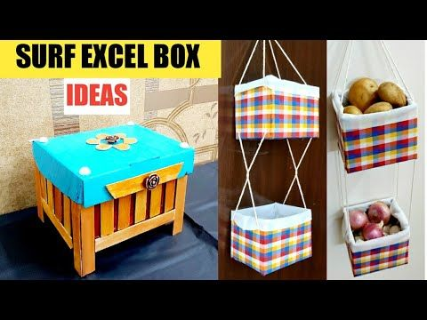 2 Cool Cardboard Box Craft Ideas 2 Surf Excel Box Reuse Ideas Best From Waste Cardboard Box In 2020 Cardboard Box Crafts Cardboard Decor Cardboard Crafts Decoration