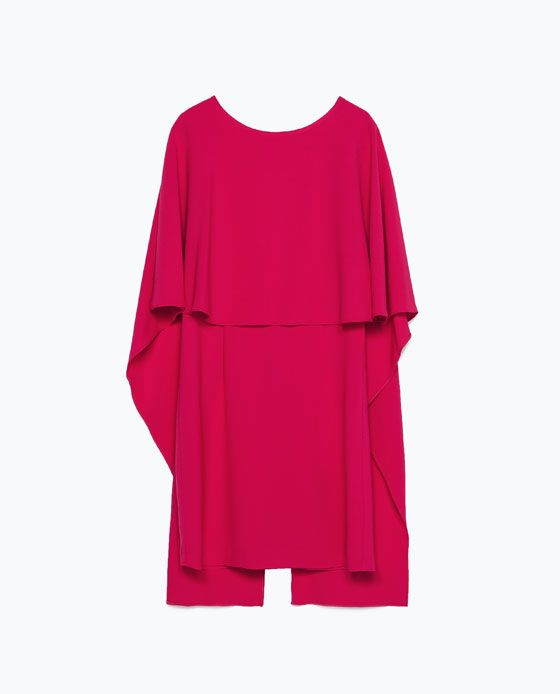 ZARA - COLLECTION AW15 - CAPE DRESS WITH LOW BACK