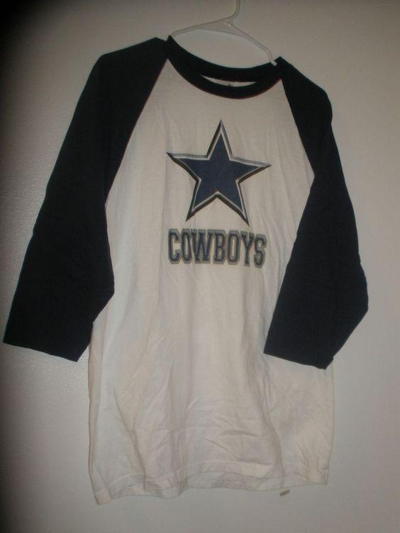 Dallas Cowboys NFL Football Half Sleeve T Shirt Men's Size Large Blue/White #Anvil #DallasCowboys
