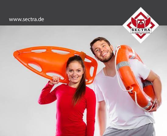 Wir übernehmen auch Gefahrenmeldeaufgaben bei Wasser-, Feuer-, Gas- oder Stromausfall.  www.sectra.de