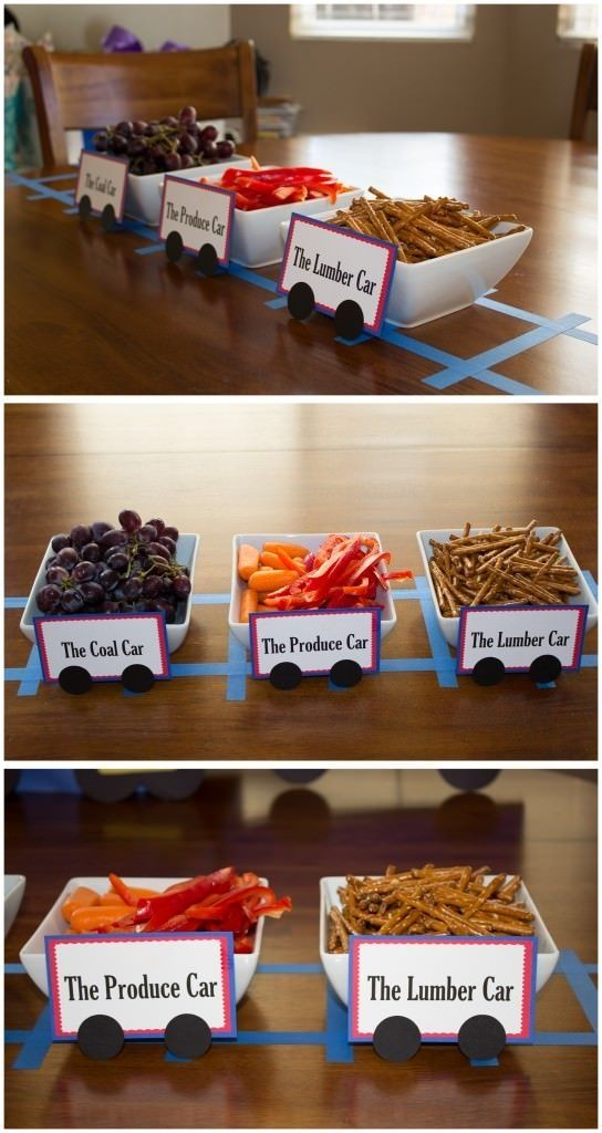 A Thomas the Train Birthday Party fun ideas for party food and