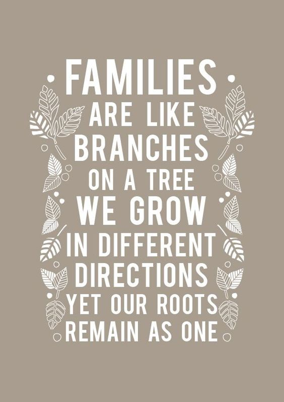 Families make a house, a home.