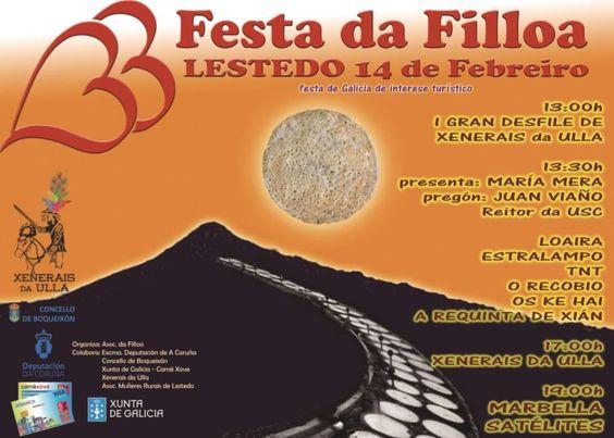 Festa da Filloa de Lestedo - Boqueixón (A Coruña) Mes de Febreiro