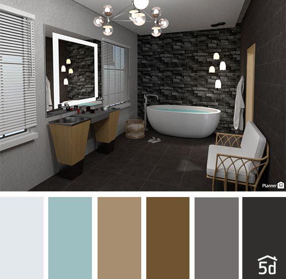 Color Balance Palette Bathroom Interior Planner 5d In 2020 Narrow Bathroom Designs 3d Bathroom Design Bathroom Interior