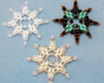 Schneeflocke 1 Perlen Ornament Muster von Westtexasjewels auf Etsy