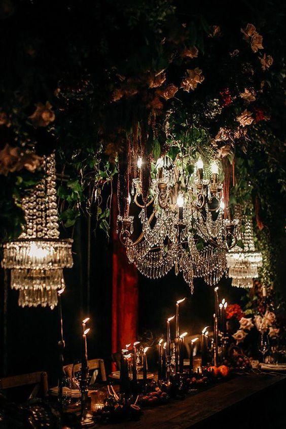 Halloween vibes yet still bridal perfection