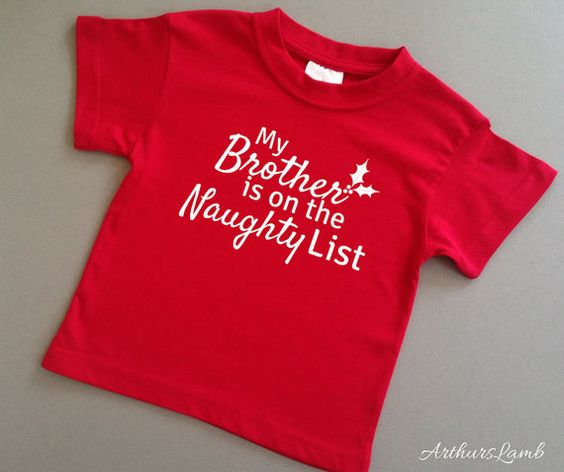 Naughty List Brother T Shirt,Big Brother,Christmas Gifts for Kids,Brother Gift,Brother Shirt,Gift for Brother,Sibling Outfits,Sibling Shirts