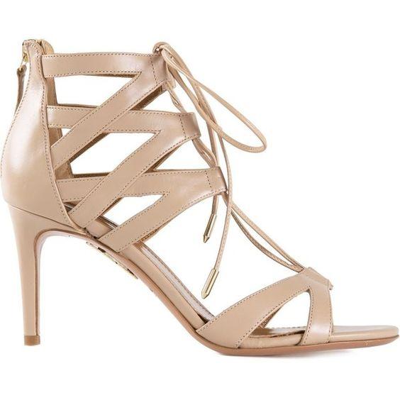 Aquazzura strappy sandals ($1,060) via Polyvore