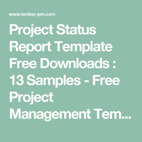 Project Status Report Template Free Downloads  13 Samples - Free