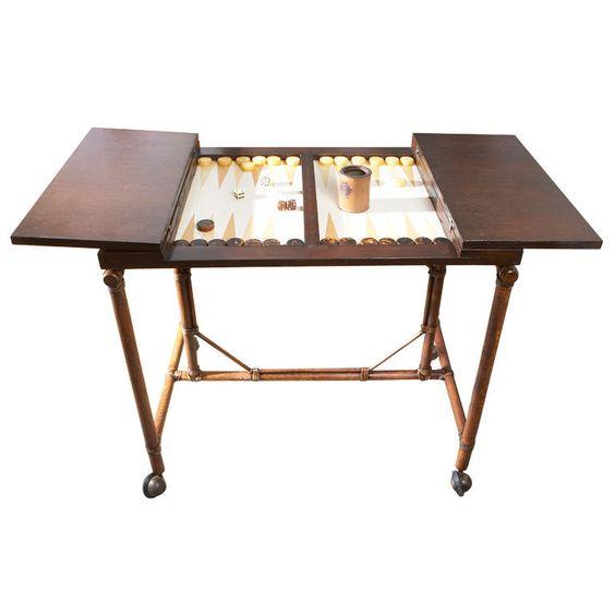 Mcguire Vintage Backgammon Table 1stdibs Com Backgammon Table Modern Game Tables Table Games