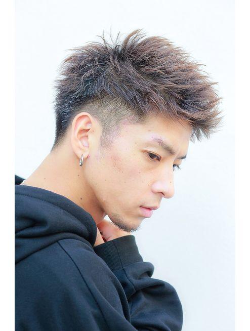 横顔が決まるジェットショート ワイルドツーブロック L リップス吉祥寺 ナカミチサイド Lipps Nakamichi Side のヘアカタログ ホットペッパービューティー 髪型 メンズ ツーブロック 髪型 メンズ 髪色 メンズ