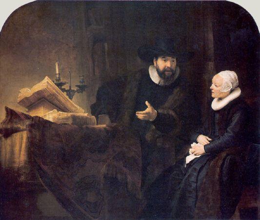 Rembrandt - PORTRAIT OF CORNELIS CLAEZ ANSLO 1592-1646 AND  AELTJE GERRITSDR SCHOUETEN 1589-1657 1641 Germaldegalerie, Staaliche Museen zu Berlin, Pressischer Kulturbesitz