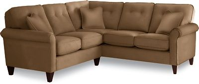 Laurel Sectional  by La-Z-Boy in Wheat - very nice, has a small pattern and some texture
