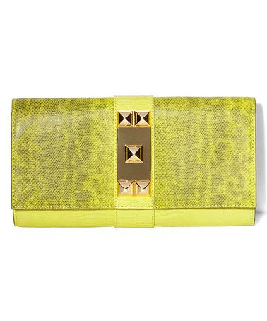 Take a look at this Chartreuse Louise Clutch by Vince Camuto on #zulily today!