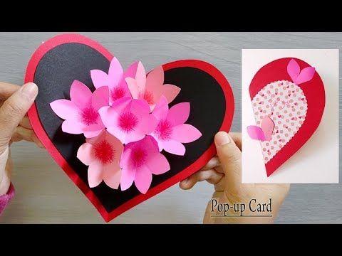 Love Is In The Air Rainbow Heart Balloon Blank Card Valentines
