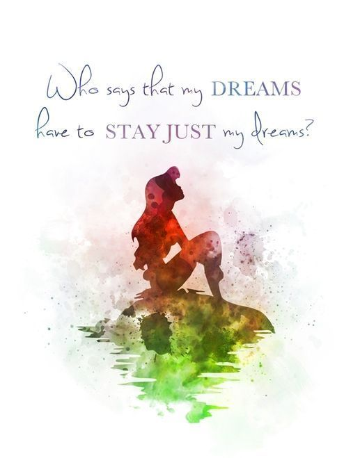 8x10 Instant Download Print Frame Wall Decor Disney The Little Mermaid Who says that my dreams have to stay just my dreams Ariel