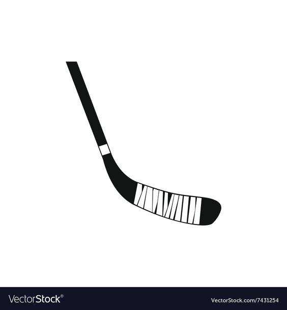 Hockey Stick Black Simple Icon Royalty Free Vector Image Aff Black Simple Hockey Stick Ad In 2020 Vector Free Simple Icon Free Vector Images
