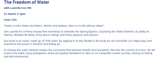 The Freedom of Water with Laurella Fox Pitt at #yotopiayogastudio