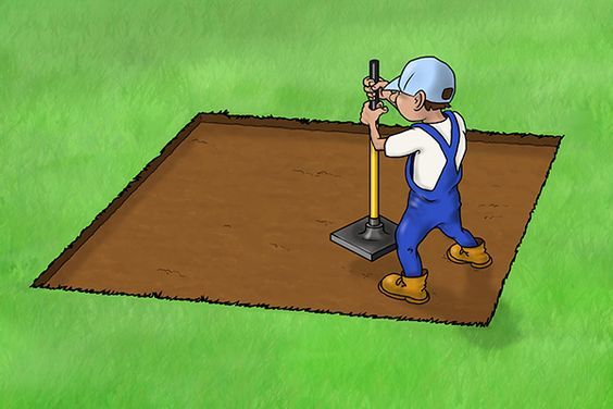 How to lay a patio or paving slabs using an earth rammer