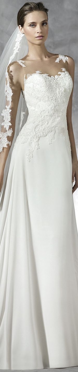 PRONOVIAS PRADAL WEDDING DRESS pinned by wedding accessories and gifts specialists http://destinationweddingboutique.com