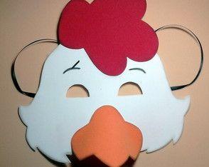 Máscara de Galo em eva
