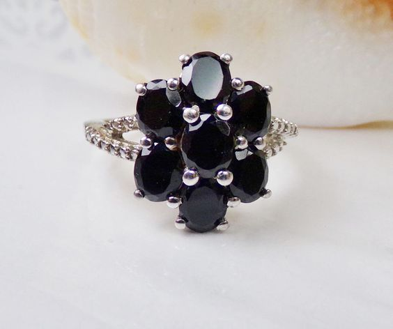 Sterling Silver Sapphire Ring Gemstone Cluster Chuck Clemency NYCII Shop NBC #Clemency #Cluster
