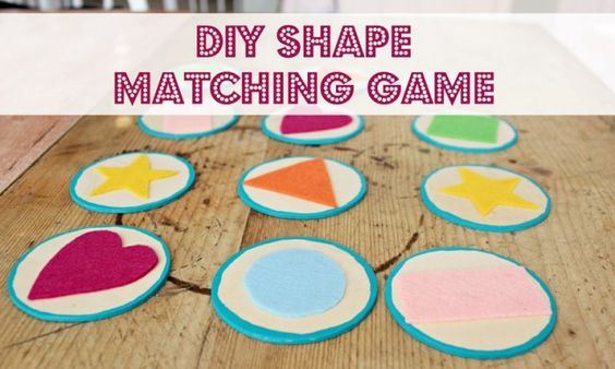 Make your own DIY toy: felt + wooden shape matching game | #BabyCenterBlog