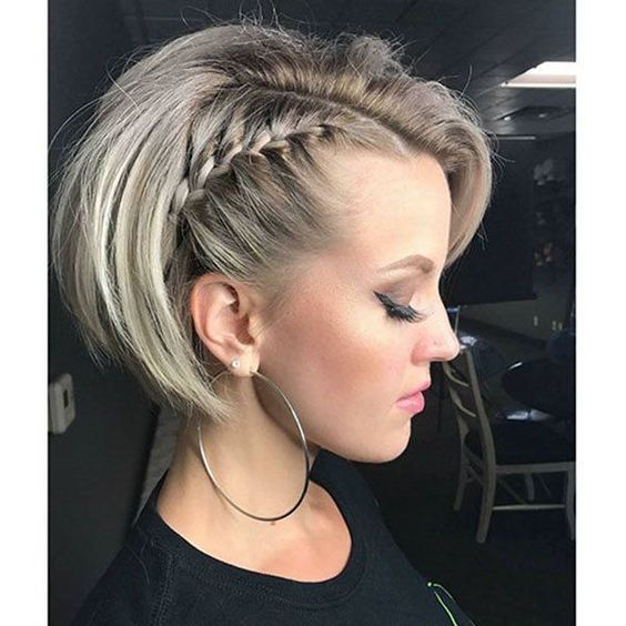 27 trenzas increíbles para cabello corto 2019-#cabello #corto #increibles #trenzas
