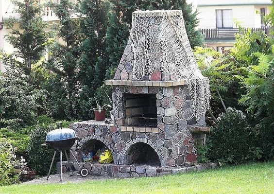 Gartengestaltung Grillecke gemauerter Grill