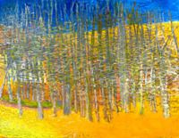 Stand of Trees, Oil on Canvas, 40 x 52 inches