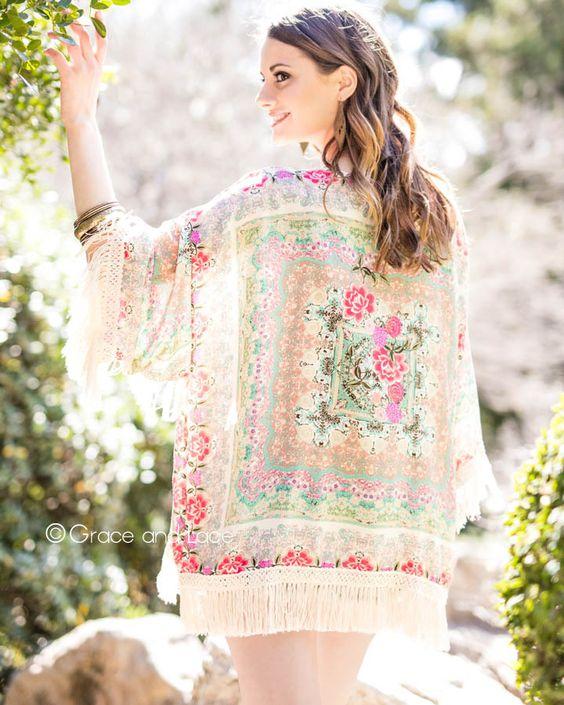 Loving this gorgeous lace kimono