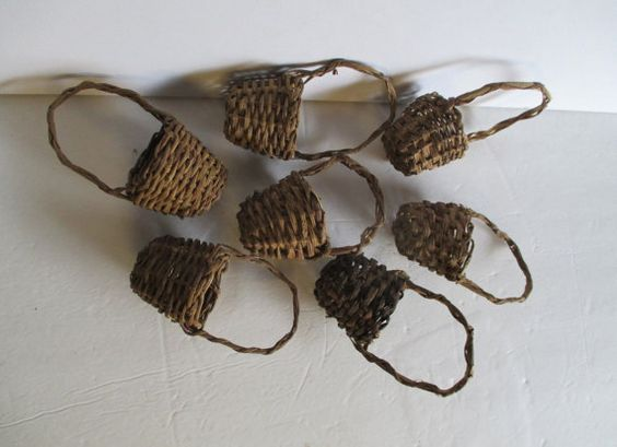 Miniature Baskets Decorating Supply Rustic Twig and by HobbitHouse
