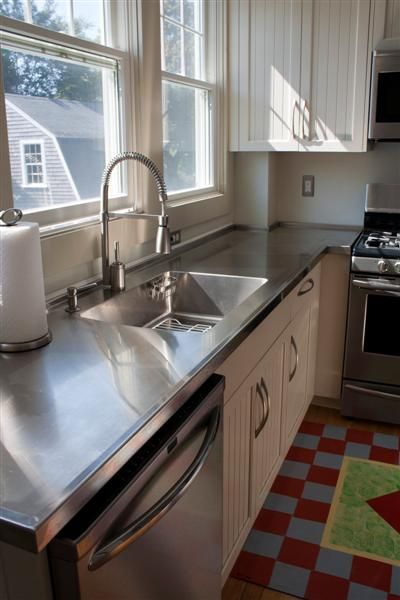 home integral sink and more stainless steel countertops countertops ...