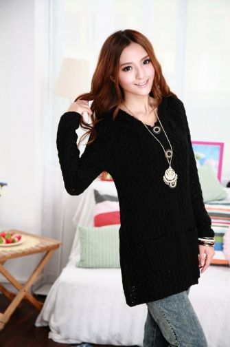 Women Hot Sale Long Sweater Coat with Single Breast on BuyTrends ...