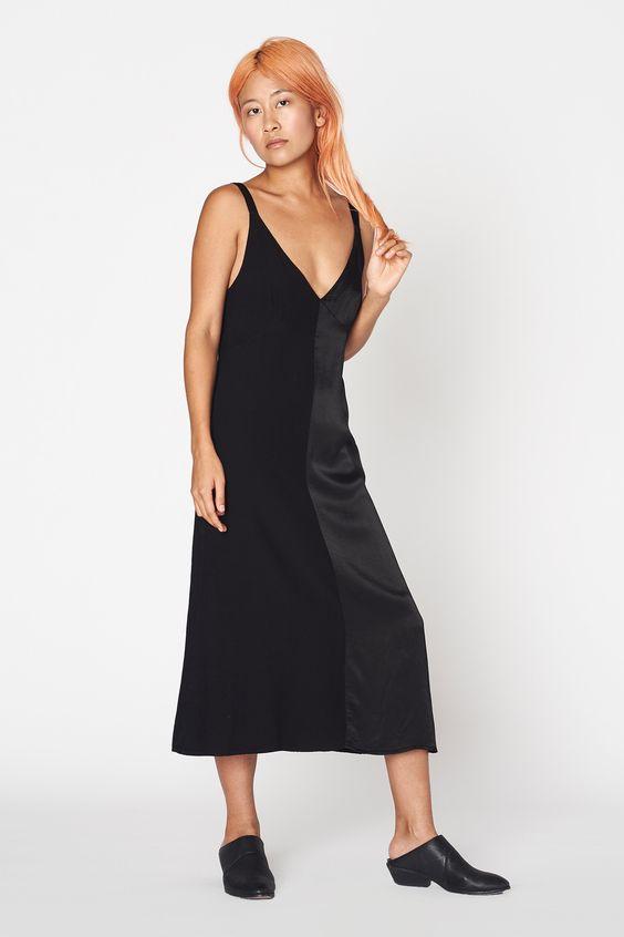Dual Satin Dress