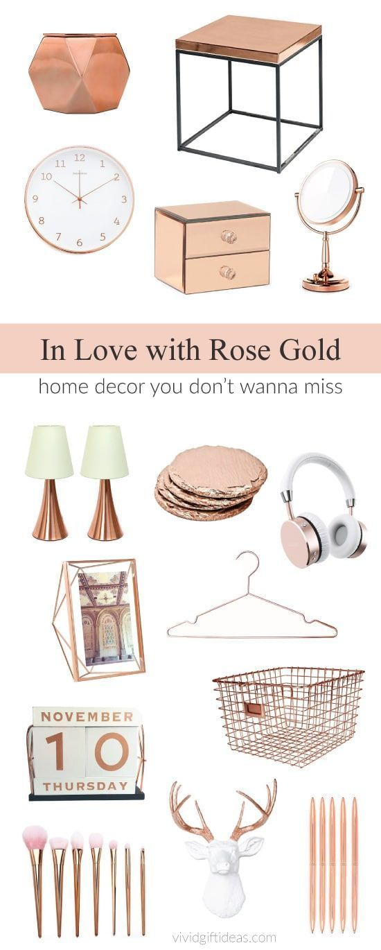 27 Rose Gold Room Decor Perfect For Bedroom And Dorm Gold Room