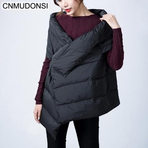 4b84de14f CNMUDONSI Winter Cotton Vest Female Sleeveless Waistcoa Women Vests ...