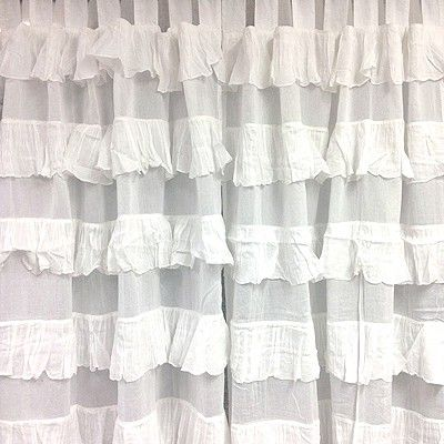 Curtains Ideas 220 drop curtains : BOUGHT: Set of 2 Frilly Curtains | Twin girls nursery | Pinterest ...