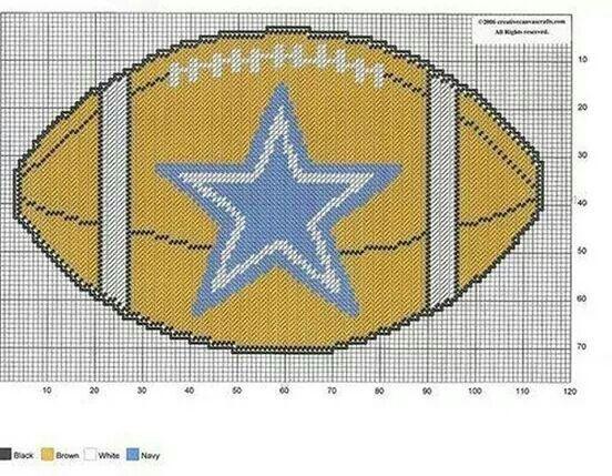 Dallas Cowboys Football Wall Hanging By