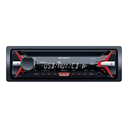 cool Sony CDX-G110 - Radio CD/MP3 para coches (220W, USB, AUX), negro