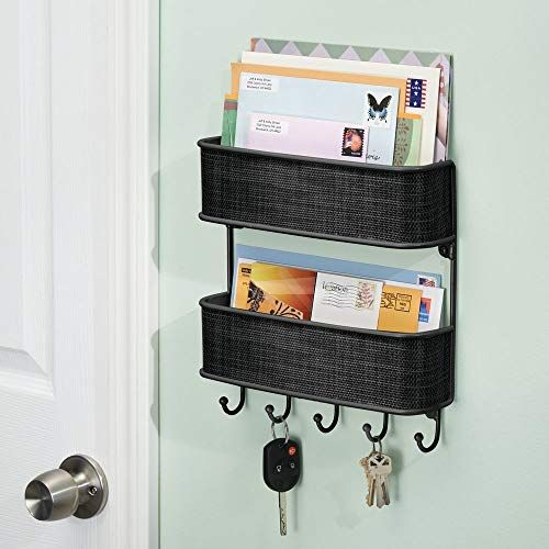 Pin By Taylor Michelle Rodrigue On Home Life Mail Key Holder Baskets On Wall Key Rack