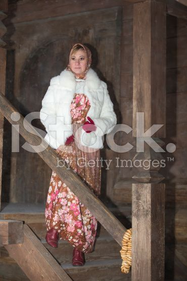 Cute girl Christmas dress, the snow falls royalty-free stock photo